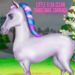 Little Elsa Clean Christmas Carriage – ioogames.com