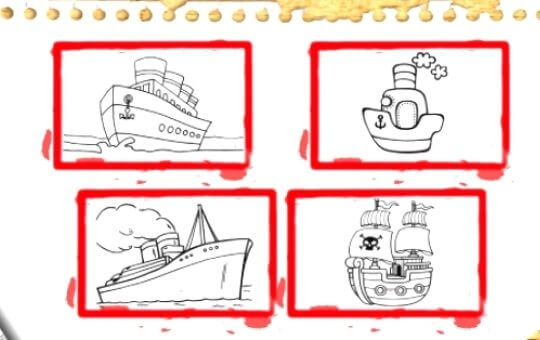 BTS Boat Coloring pages - Best #1 Free online games, Boat Coloring pages,