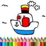 BTS Boat Coloring pages – Best #1 Free online games